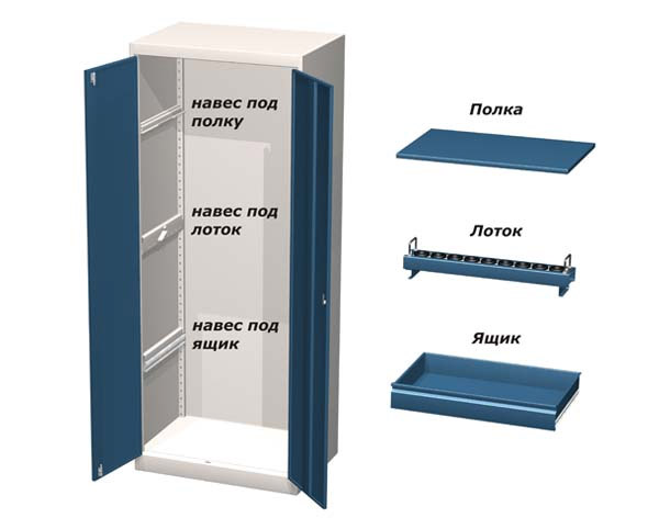 Шкаф инструментальный ВР-1357/1358 и комплектующие